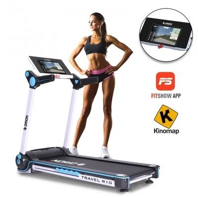 Banda de alergat electrica Orion Travel R10 poate fi inclinata pe 15 nivele si te ajuta sa arzi multe calorii!