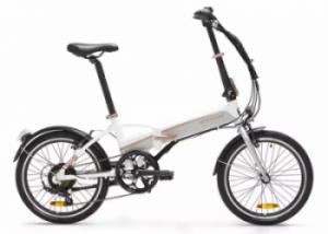 Bicicleta pliabila electrica TILT 500 E Alb BTWIN poate fi comandata de la Decathlon