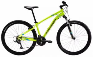 """Bicicleta MTB ST 100 27,5"""" Galben ROCKRIDER este la reducere la Decathlon"""