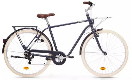 Alte biciclete la Decathlon sunt de oras, cum ar fi bicicleta de oras cu cadru inalt Elops 520 Albastru