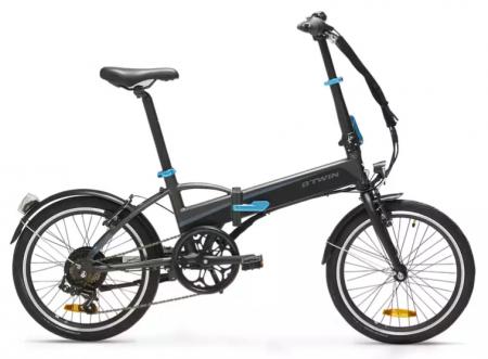 In oferta de bicicleta la Decathlon este si bicicleta pliabila electrica TILT 500 Gri inchis BTWIN, excelenta pentru oras