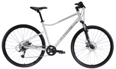 Riverside 500 Alb BTWIN este o bicicleta polivalenta de la Decathlon!