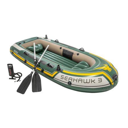 Barca gonflabila Intex Seahawk 3 este foarte ieftina si vine cu pompa + vasle incluse