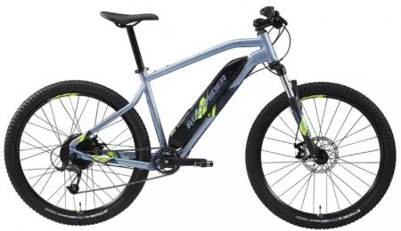 """Cea mai buna bicicleta electrica de la Decathlon este MTB E-ST 100 27,5"""" Albastru Rockrider, avand autonomie mare!"""