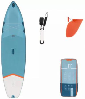 """Acest Stand up paddle gonflabil X100 11"""" Albastru ITIWIT poate fi comandat de la Decathlon la un pret special"""