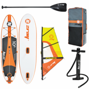 Placa Stand Up Paddle board SUP vine in pachet si cu o vela Z-RAY Windsurf 10'