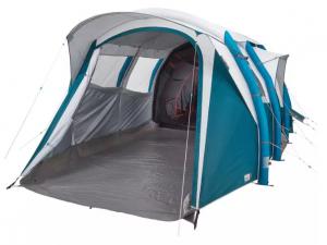 In acest cort pentru camping cu structura gonflabila Air Seconds Fresh&Black 6.3 6 persoane 3 camere Quechua te vei bucura de intimitate maxima