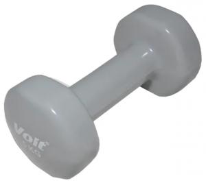 Gantera fitness Voit, coating vinil, 5 kg, culoare gri de la Kondition poate fi utilizata la abdomene sau exercitii de incalzire musculara!