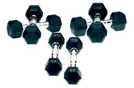 Un set bun de gantere ieftine este cel de 2kg Tunturi, cu pret bun si disponibil in stoc.