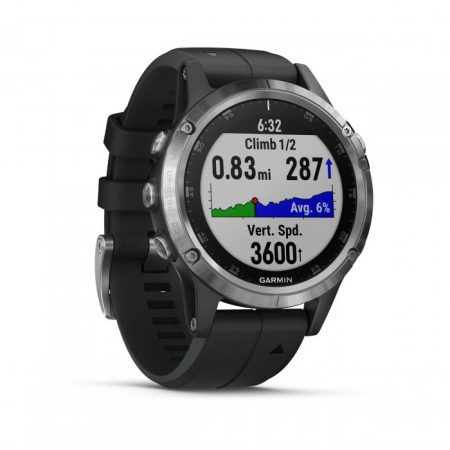 Ceasul smartwatch Garmin Fenix 5 Plus, HR, GPS, Silver, Silicone Black are un raport calitate/pret care va convinge orice pasionat de sport sa il achizitioneze!
