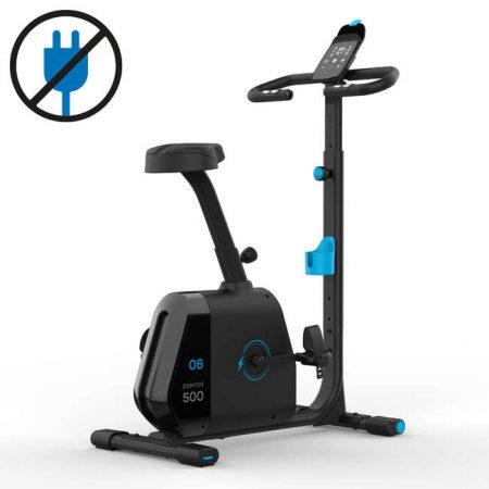 Bike 500 Domyos are un avantaj enorm fiind o bicicleta fitness Decathlon auto-alimentata. Astfel, nu vei avea nevoie niciodata de priza si nu te vei impiedica de cabluri prin casa.