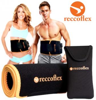 Centura pentru slabit din neopren Reccoflex de la Emag este ideala atat pentru femei, cat si pentru barbati, venind la pachet cu o husa pentru telefon.