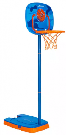 Decathlon comercializeaza inclusiv cos de baschet pentru copii de 5 ani, precum Tarmak K100 si vine cu o minge cadou.