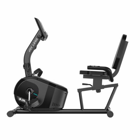 Bicicleta magnetica recumbent Orion JOY L250 poate fi comandata de la Sportpartner sau Emag si este potrivita pentru folosirea orizontala, de acasa.