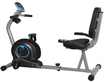 Bicicleta orizontala magnetica FitTronic 505R poate fi comandata online de la Emag si are dimensiunile  125 x 58 x 80 cm.