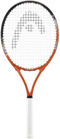 Racheta tenis Head Radical 26 Jr este speciala pentru copiii cu varsta cuprinsa intre 9 si 11 ani, lungimea ei avand 66 cm, iar greutatea fiind egala cu 245g.