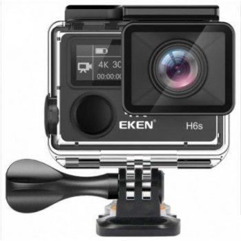 Eken H6S+ este o camera sport concurenta pentru GoPro care vine in pachet cu multe accesorii si ecran LCD de 2 inch.