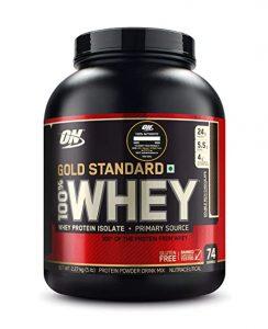 Optimum Nutrition ON 100% Whey Gold Standard protein au gust de ciocolata, sunt foarte bune, fiind preferatele mele cand vine vorba de proteine pentru sala din zer.