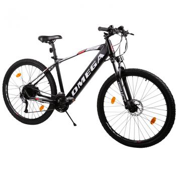 Bicicleta electrica Omega Kerwin are combinatie interesanta de culori si roti mari de 29 inch, avand pareri bune de la clienti.
