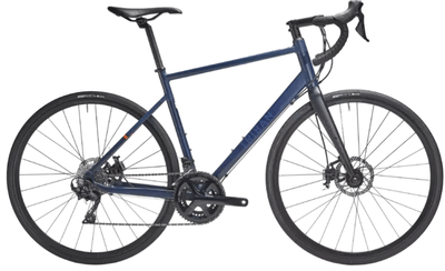 Bicicleta de sosea RC 520 are frana pe disc si este cea mai buna cursiera pe care am vazut-o la Decathlon.