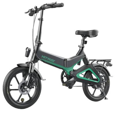 La Emag poti gasi bicicleta electrica pliabila Hitway, cu care poti merge prin oras la viteza maxima de 25km/h.