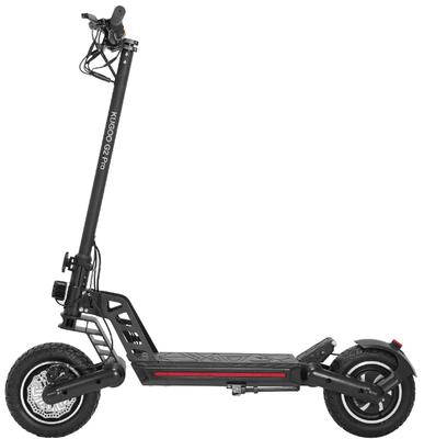 G2Pro este probabil cea mai buna trotineta electrica Kugoo, avand viteza maxima de 50km/h si autonomie de 50km.