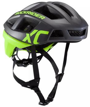 Cea mai buna casca biciclceta MTB XC galben Fluo RockRider este din policarbonaat si catarame din polioximetilena, care o fac sa reziste in timp!