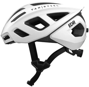 ROADR 500 alb Van Rysel de la Decathlon este o casca ideala de ciclism cu aspect special.