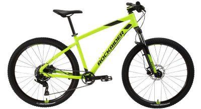 """Sporturile de vara nu pot fi nelipsite de turele cu o bicicleta MTB ST 530 27,5"""" galben Rockrider, care are un pret decent pentru specificatii bune!"""