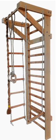 Spalierul de gimnastica multifunctional iti permite realizarea multor tipuri de antremanete, incluzand accesorii utile si 15 bare. In total cantareste 24kg.