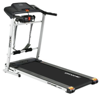Banda de alergare Dynamic A400 are viteza maxima de 12km/h si poate fi folosita atat de persoane care abia au inceput joggingul, cat si de experti.