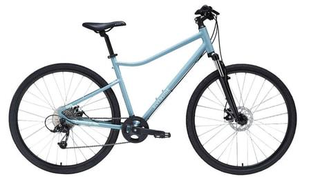Bicicleta polivalenta Riverside 500 verde  vine cu 9 trepte de viteze, franare cu discuri mecanice, intregul pachet fiind ieftin!