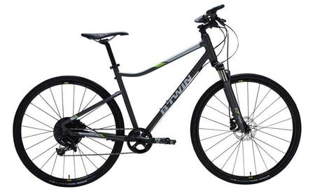 Bicicleta 920 Riverside poate fi achizitionata de la Decathlon la un pret redus, fiind excelenta pentru persoanele care au cel mult 120kg.